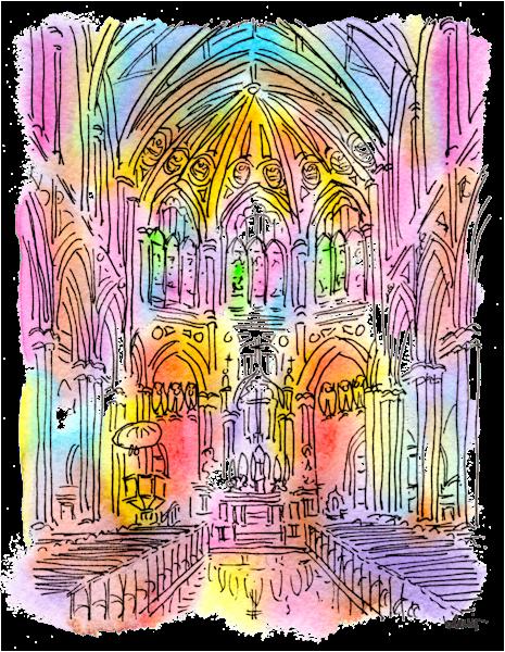 Holy Name Of Jesus Church Art | bharris Art, LLC
