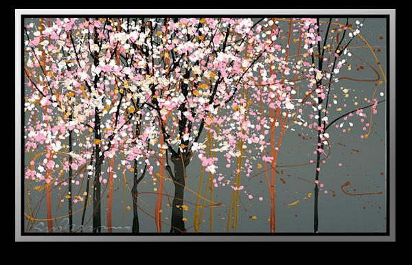 "Simon Bull Available Original Painting - ""Pink + Black"""
