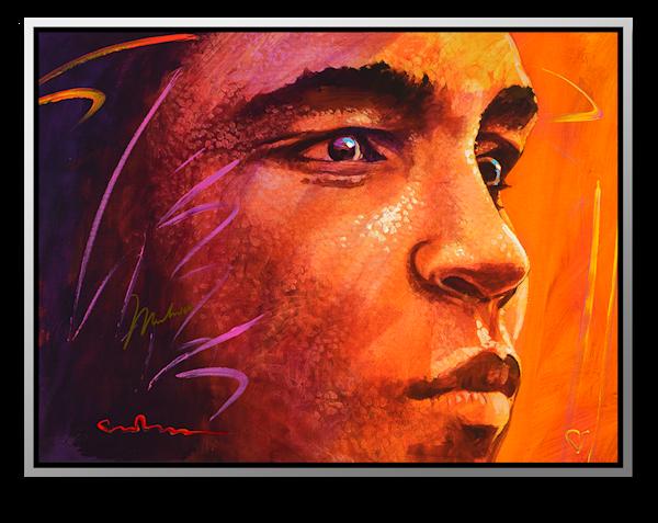 "Simon Bull Available Mixed Media Painting - ""Distant Thunder III"""