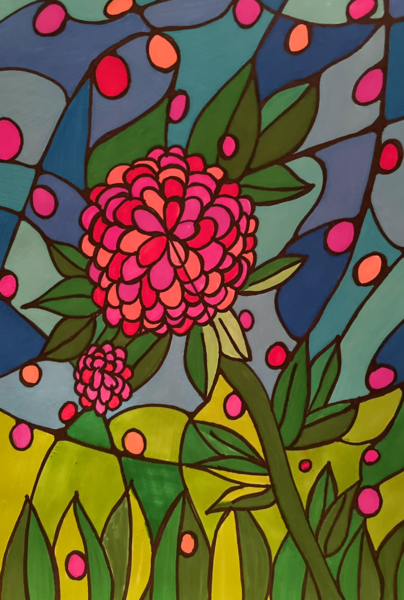 Stained Glass Flower Art | Marci Brockmann Author, Artist, Podcaster & Educator