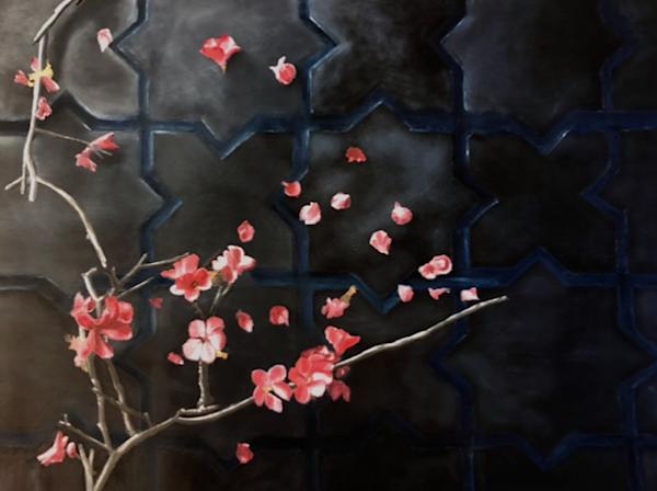 Study Of Cherry Branches On Tile Art | Brendan Kramp Studio & Workshop