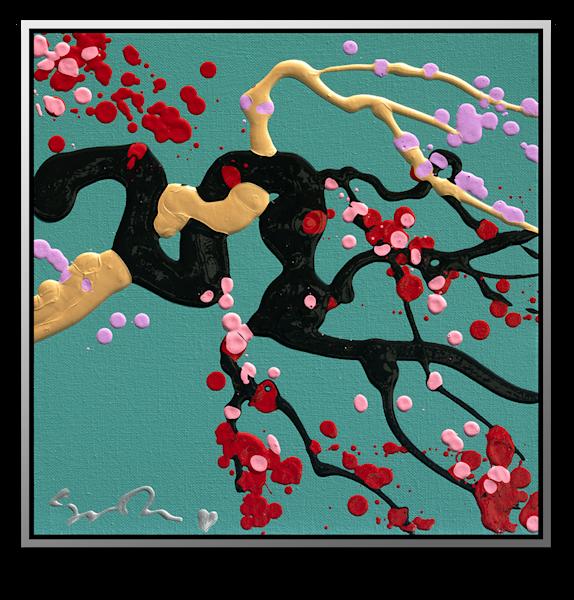 "Simon Bull Available Original Painting - ""Black + Gold"""