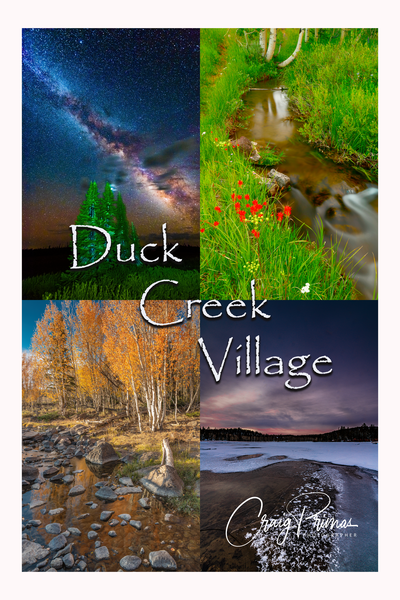 2022 Duck Creek 4 Seasons Poster Photography Art | Craig Primas Photography