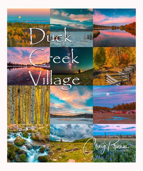 2022 Duck Creek 12 Months Poster Photography Art | Craig Primas Photography