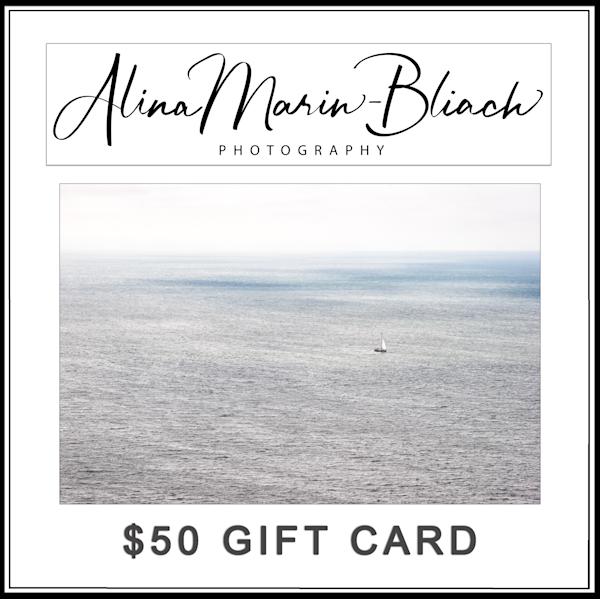 $50 Gift Card   Alina Marin-Bliach Photography/alinabstudios LLC