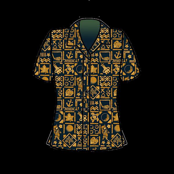 Women's Apollo 14 Hawaiian Shirts | Artwork by Rouch