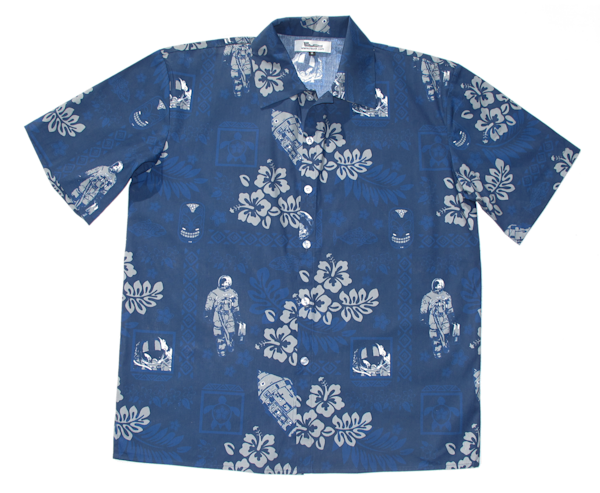 Men's Apollo 15 Hawaiian Shirt   Close Out | Artwork by Rouch