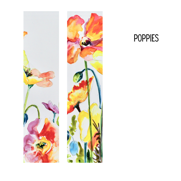 Poppies Art Socks | Karen Bishop Artist