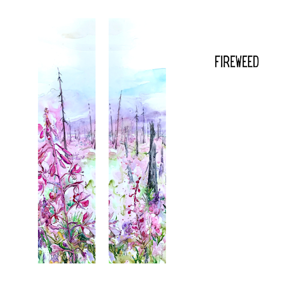 Fireweed Art Socks | Karen Bishop Artist