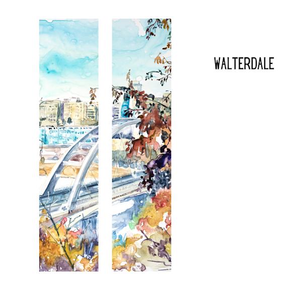 Walterdale Bridge Art Socks | Karen Bishop Artist
