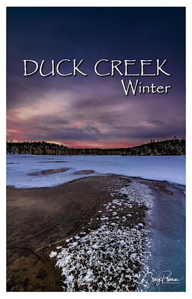 Duck Creek Winter Poster Photography Art | Craig Primas Photography