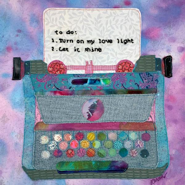 Love Light Typewriter  Art | Karen Payton Art
