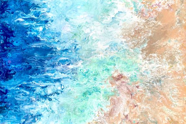 Seafoam Diversions Art | Deborah Younglao Art