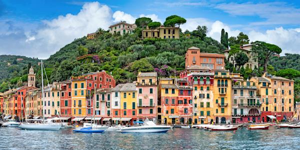 Art Print Portofino Italy Italian Fishing Village