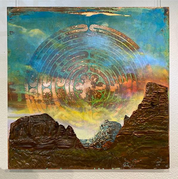 Sky Labyrinth Original Art Art   Big Vision Art + Design