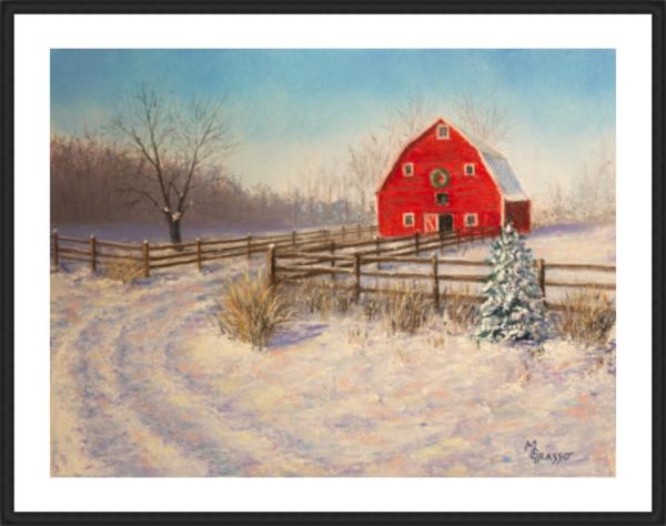Holiday Barn   Limited Edition Art | Mark Grasso Fine Art