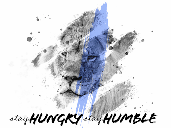 Lion Stay Hungy Stay Humble White 1 Photography Art   brianjohnson