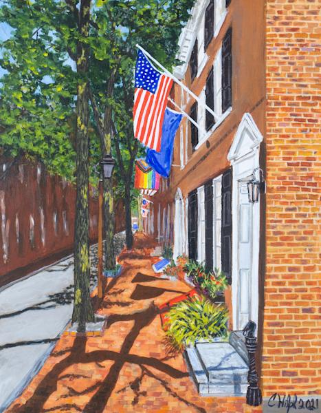 Sunrise On Delancey Street Art | Chuck Hilpl Fine Art