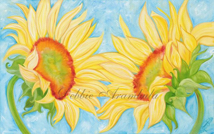 Dancing Sunflowers