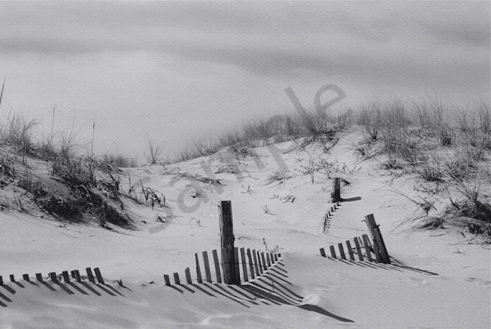 Buried Fences Landscape Photo Wall Art by Landscape Photographer Melissa Fague