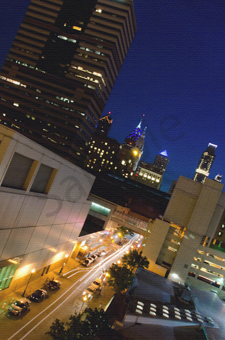 Light Trails in Philly Night Photo Wall Art by Nature photographer Melissa Fague