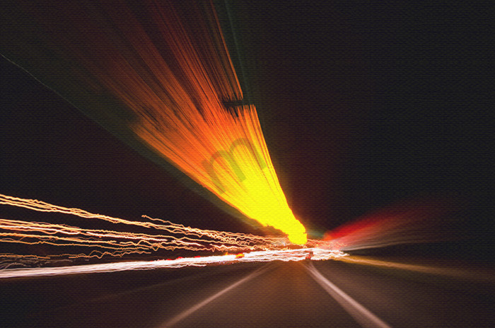 Expressway Night Photo Wall Art by Nature photographer Melissa Fague
