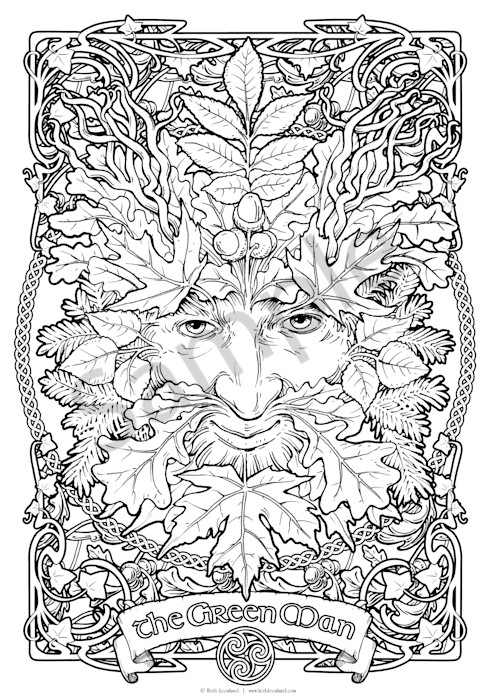 The Green Man - Color Your Own