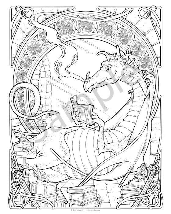 Reading Dragon - Color Your Own