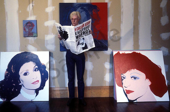 Andy Warhol with Newspaper