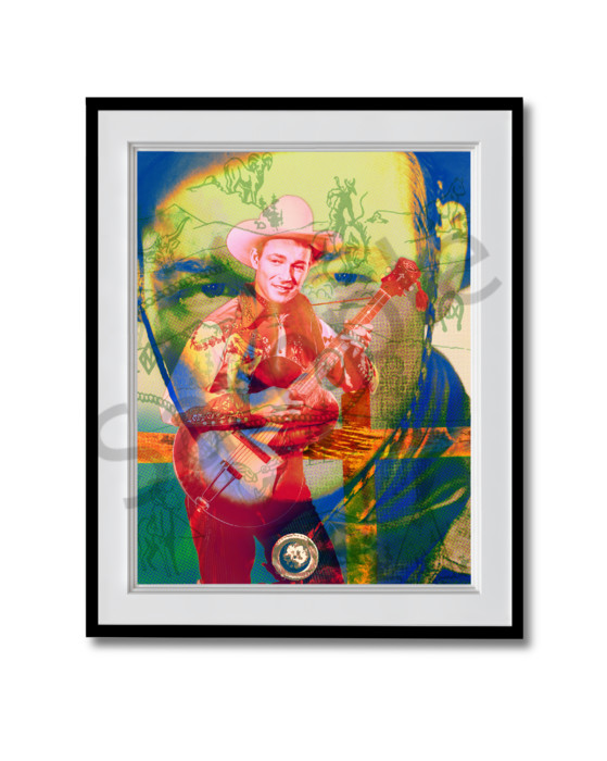 Fine art photograph Roy Rogers with a pattern
