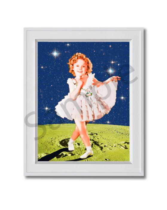 Fine art photograph Shirley Temple on the Moon