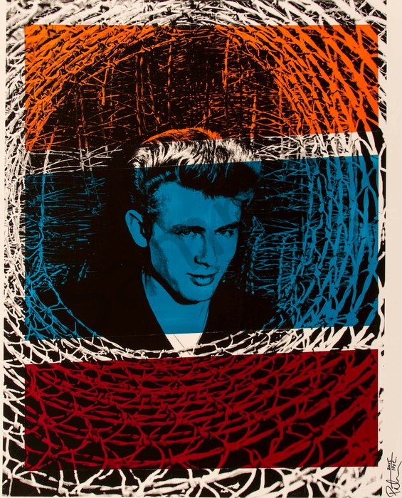Fine art photograph a peter tunny photo. James Dean wicker portrait