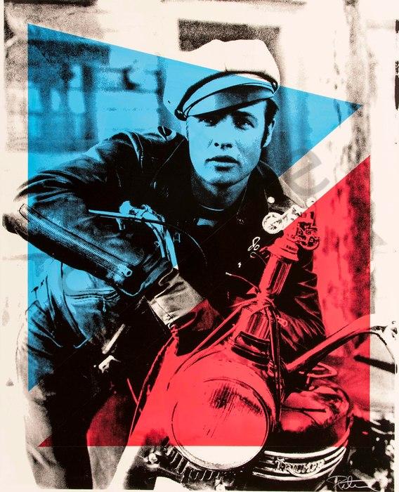 Fine art photograph a peter tunny photo. Marlon Brando Motorcycle two