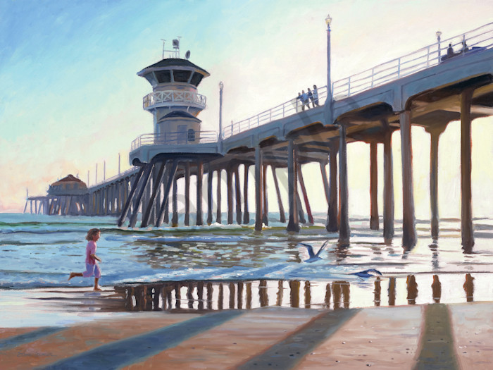 Huntington Beach Pier at Twilight