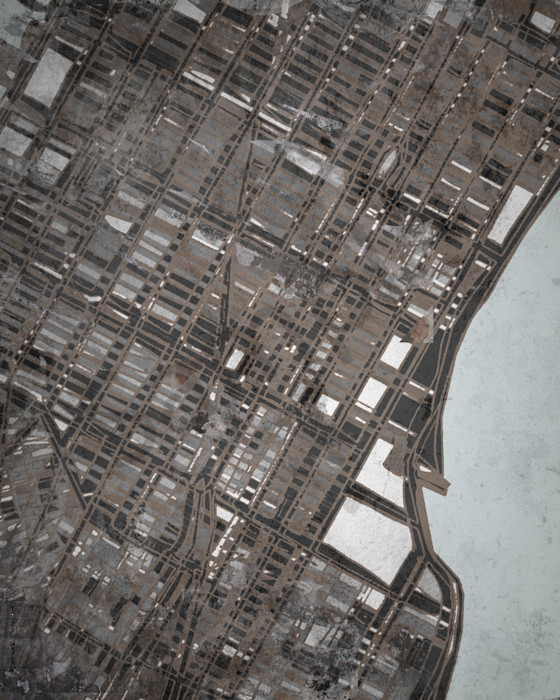 NYC Art Prints- Midtown Map For Sale Online