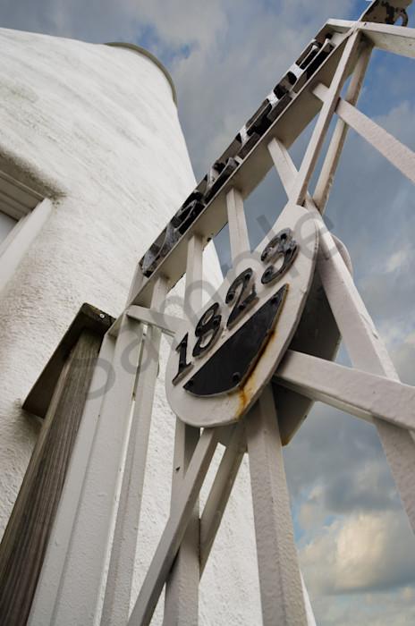 Ocracoke Island Lighthouse against Sky Landscape Photo Wall Art by Landscape Photographer Melissa Fague