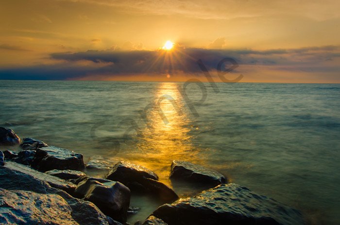 Sun Ray on Water Landscape Photo Wall Art by Landscape Photographer Melissa Fague