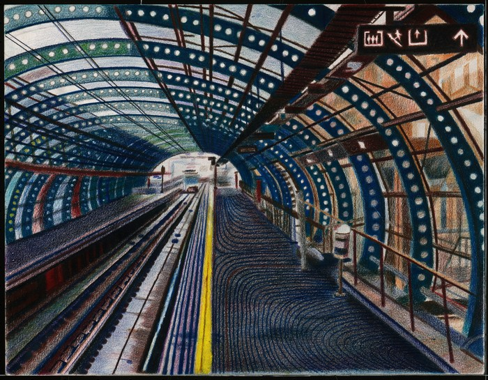 A European Subway Platform Drawing