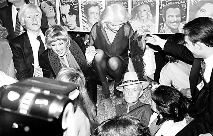 Debbie Harry with Andy Warhol at Studio 54