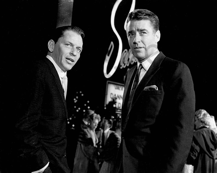 Frank Sinatra with Peter Lawford