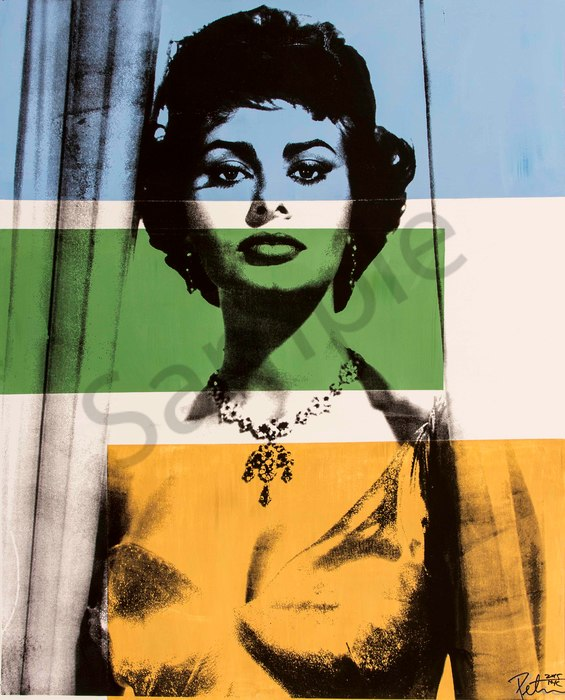 Fine art photograph a peter tunny photo. Sophia Loren portrait fine