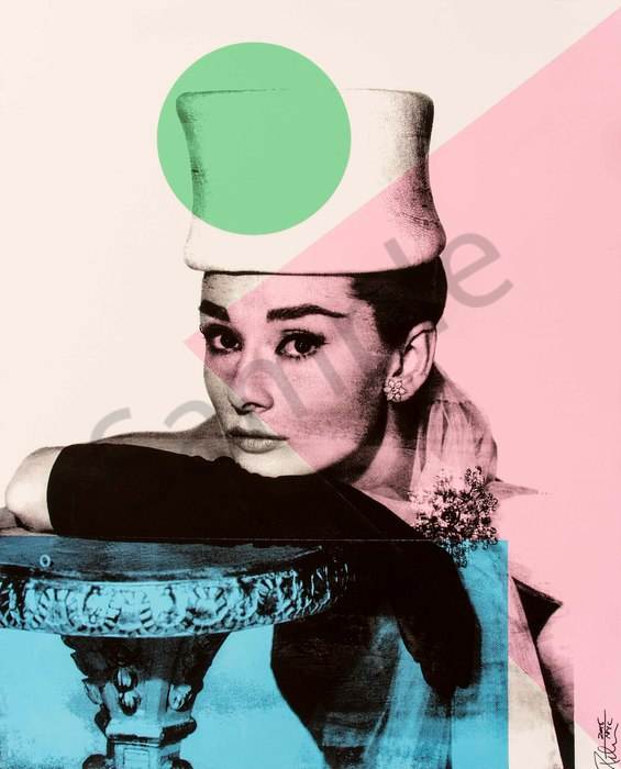 Fine art photograph a peter tunny photo. Audrey Hepburn Hat portrait
