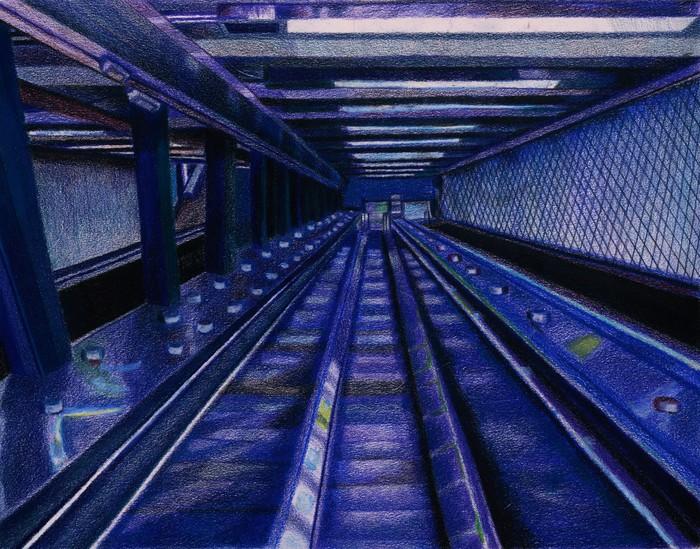 Escalators To 181 St In Washington Heights