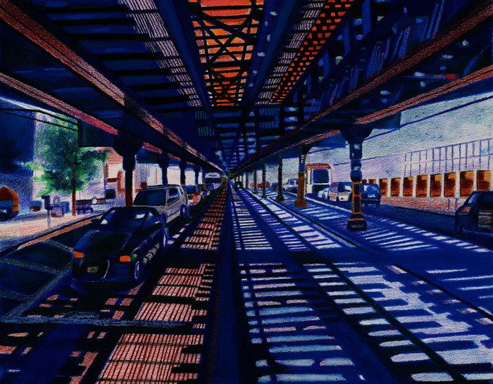 Under The Inwood Tracks Upper Manhattan 215th St