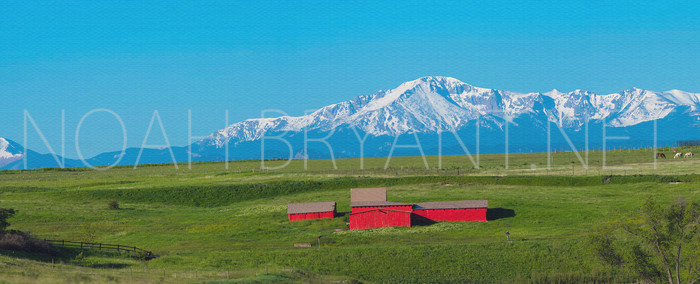 Red Barn and Pikes Peak - Noah Bryant