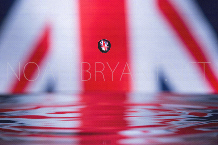 UK Flag Refracted through a drop of water  - Noah Bryant