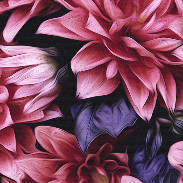 Purple Dahlia wall art print created b Arthur Jacob