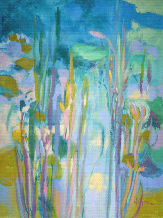 A Lily Pond of My Own | Water Garden Painting by Dorothy Fagan