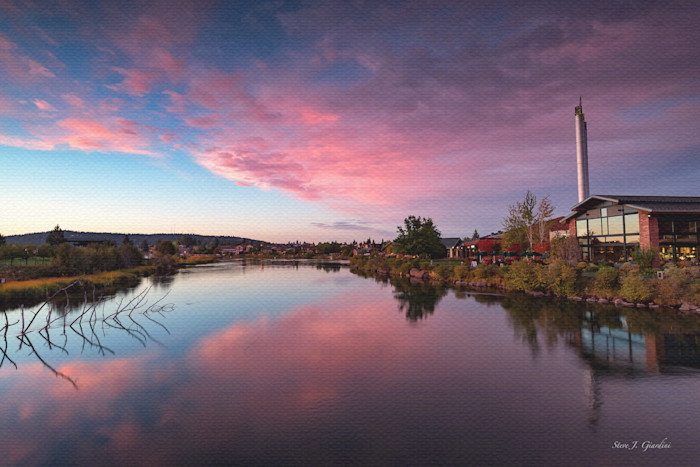 Old Mill Sunset (151300LND8-P) Photograph for Sale as Fine Art Print