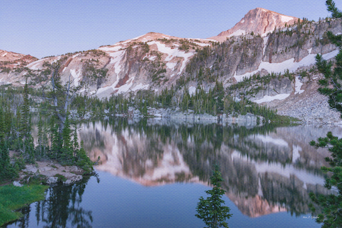 Eagle Cap Mirror Lake (161515LND8-S) Photographs for Sale as Fine Art Prints